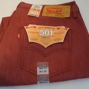 Levi's Men's 501 STF Shrink To Fit 36x33 Oak Con
